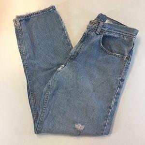 Vintage Levi's Heavily Distressed 550 Mom Jeans